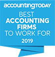 Best Accounting Firm to Work For 2019 Award