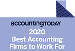 Best Accounting Firm to Work For 2020 Award